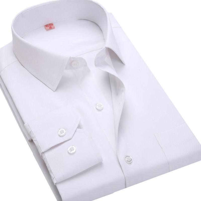 4XL 5XL 6XL 7XL 8XL Grande Taille Hommes de Business Casual Long Chemise à manches Blanc Bleu Noir Rayé Mâle Robe Chemise Sociale Plus