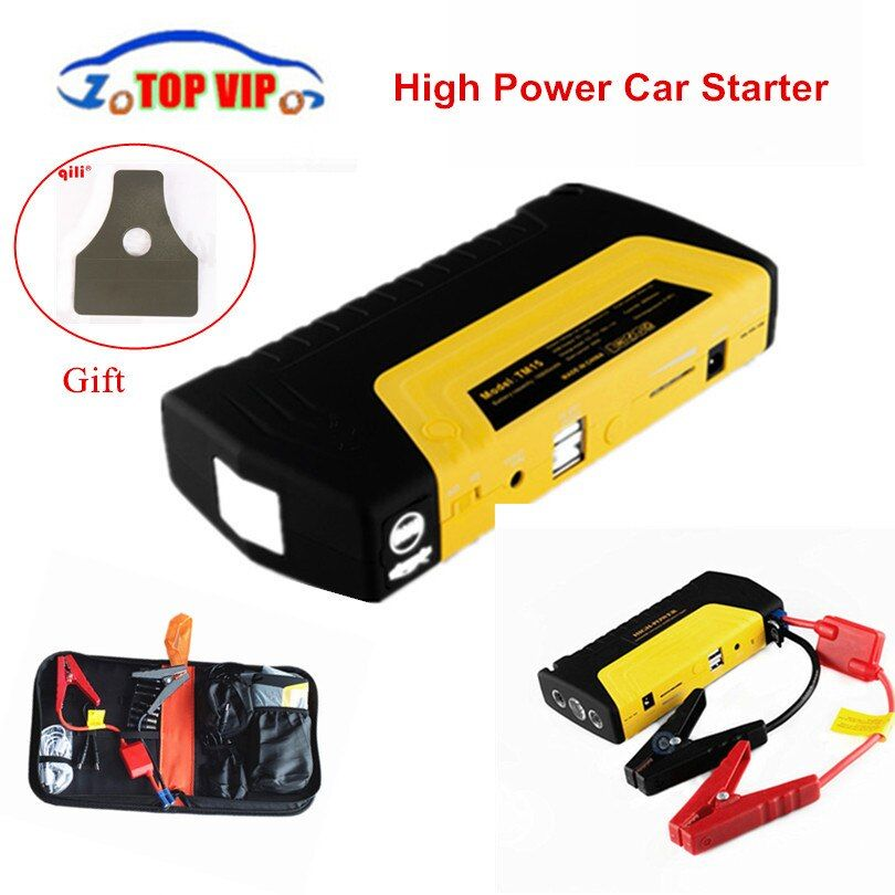 Hot Rated!! Emergency Car Jump Starter mini protable Power Bank Car Starter Multi Function Battery Car Charger Booster