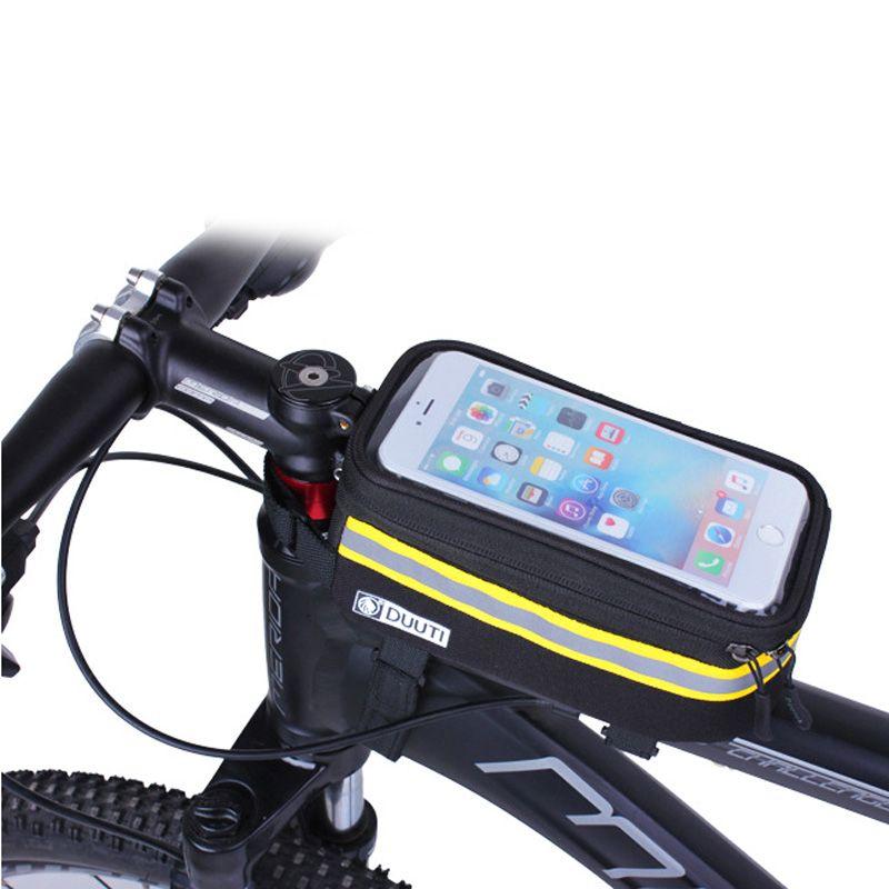 DUUTI vélo coque de téléphone utilitaire vélo sac de téléphone portable avec écran TPU tactile réfléchissant étanche vtt vélo de route étui pochette