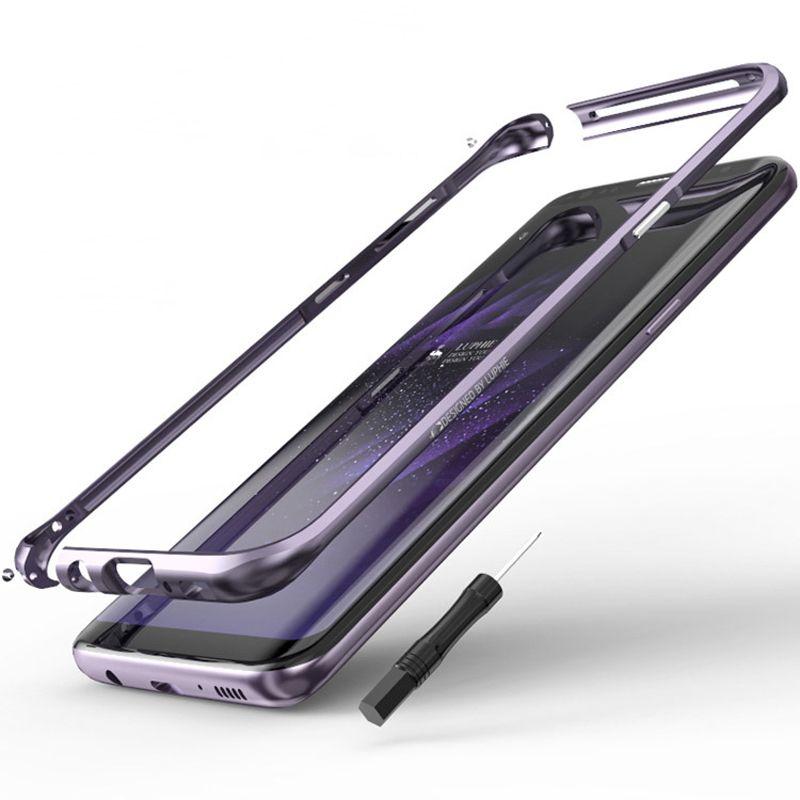 En aluminium Métal Pare-chocs la sfor Samsung Galaxy S8 Cas De Luxe Téléphone armure Cadre coque la sfor Samsung S8 Plus Cas Pare-chocs En Aluminium métal