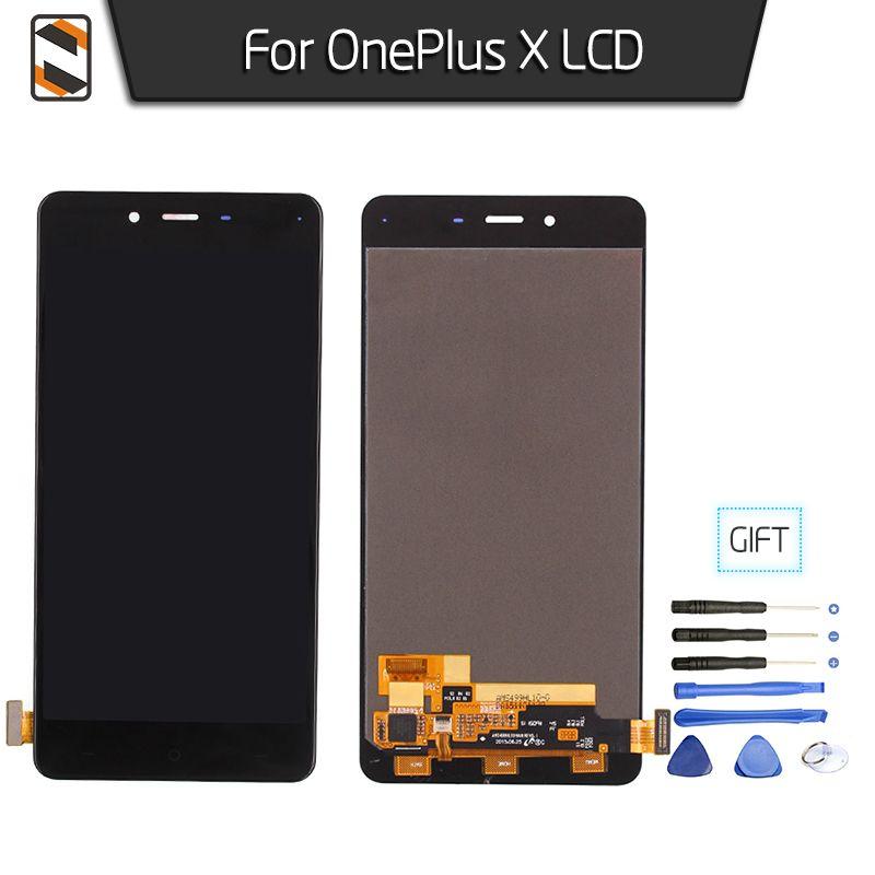 LCD Ersatz für Eins Plus OnePlus X LCD Display Touch Digitizer Glass Assembly Bildschirm Schwarz Weiß Pantalla 5