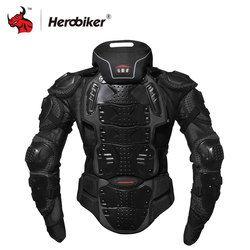 Herobiker Jaket Motor Baju Motor Balap Tubuh Pelindung Jaket Motorcross Sepeda Motor Pelindung Gear + Pelindung Leher