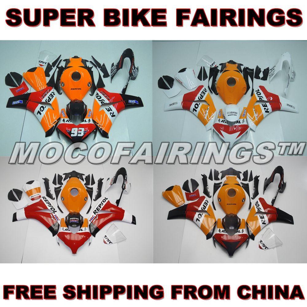 100% Oem-einrichtung ABS Motorrad Verkleidung Kit Für Honda CBR1000RR 2008 2009 2010 2011 CBR 1000 RR Verkleidungen Körperarbeit REPSOL