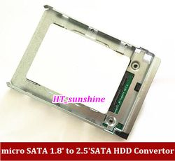 1PCS Free Shipping micro SATA 1.8'' to 2.5'' HDD Convertor SSD 1.8inch solid hard disk protect box A1186 A1289