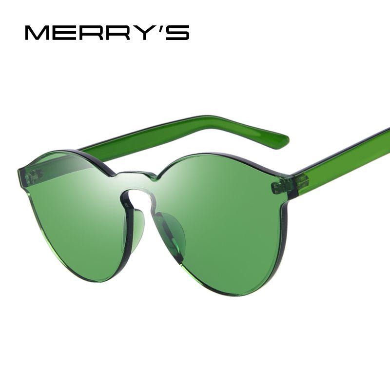 MERRY'S Mode Femmes Cat Eye Shades De Luxe lunettes de Soleil de Lunettes Intégrées Bonbons Couleur UV400