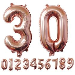 40 pulgadas oro rosa número globos grande dígito helio globos Decoraciones de la boda fiesta de cumpleaños fuentes Baby Shower