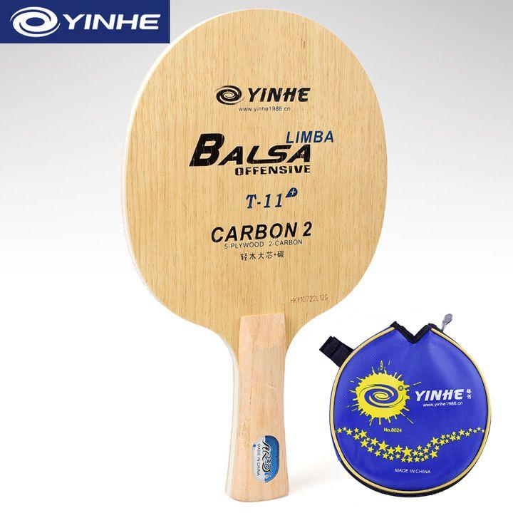Galaxy YINHE T-11 + (T-11 Plus, Super licht, Carbon, mit einer Tasche) tischtennis Klinge (5 + 2 Carbon) T11 Schläger Ping Pong Bat Paddel