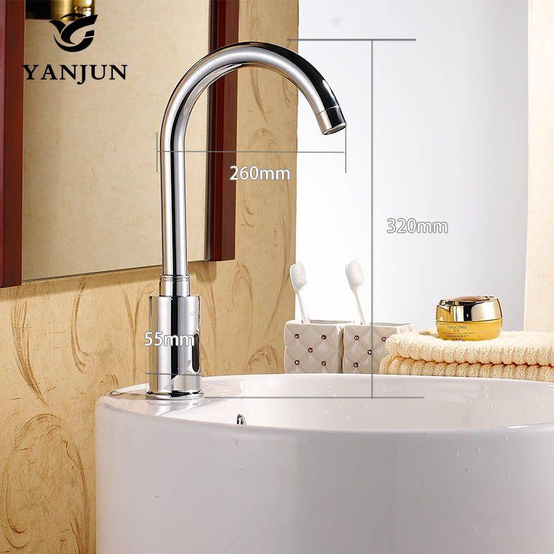 Yanjun Touch-Free Sensor Faucet Automatic Shut Off Faucet DC6V Or AC220V Lavatory Bathroom Kitchen YJ-6610