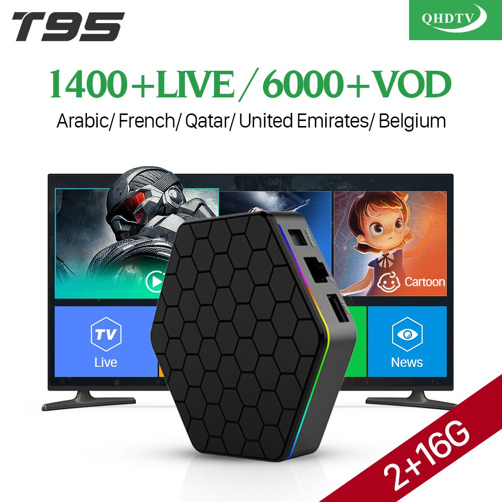 IPTV France Arabic 4K T95Z plus Android 7.1 Smart TV Box S912 <font><b>Octa</b></font> Core 1 Year QHDTV Code IPTV French Spain Netherlands IPTV Box