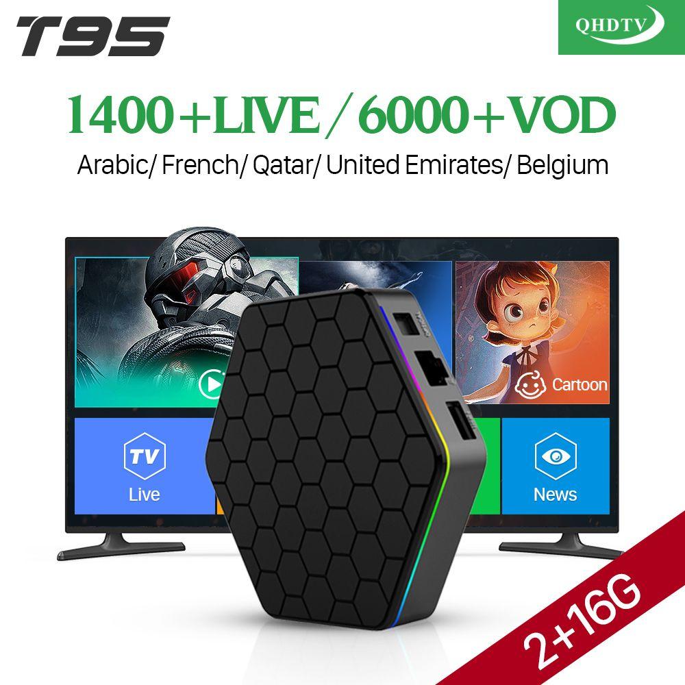 IPTV France Arabic 4K T95Z plus Android 7.1 Smart TV Box S912 Octa Core 1 Year QHDTV Code IPTV French Spain Netherlands IPTV Box
