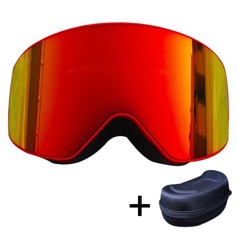 BENICE Nouveau Design Anti-buée Lunettes de Ski/Protection UV Multicolore double lentille ski Snowboard ski lunettes magnétique lunettes de Ski