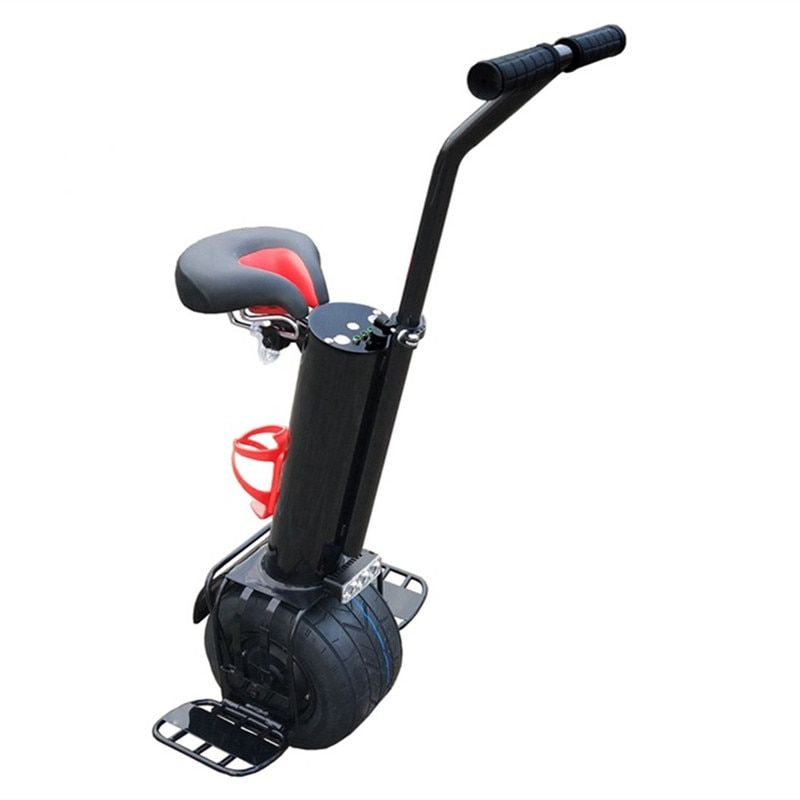 500W 10 inch One Wheel Hover Board with Handle Bar 60V Single Wheel Electric Scooter with Seat for Adults