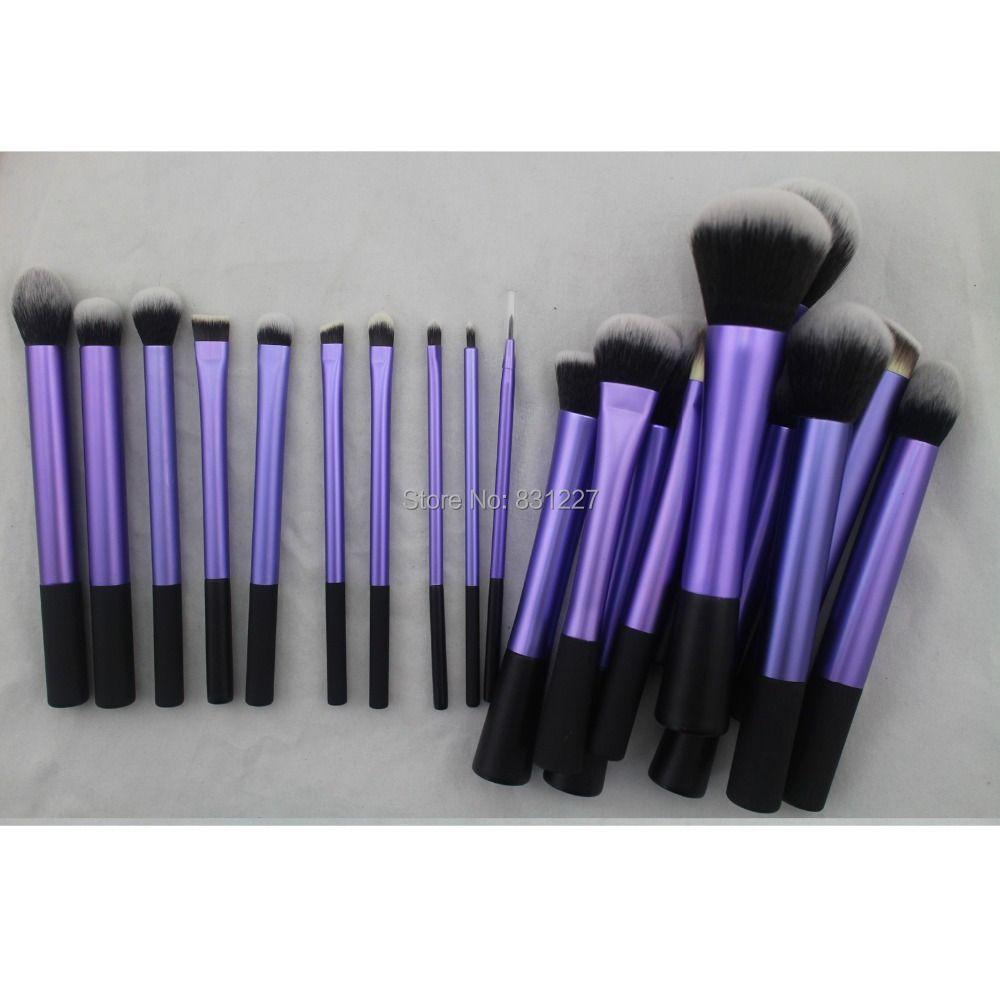 Sedona Incroyable 20 pièces cheveux doux Pourpre dense maquillage brosse ensemble complet Professionnel De Haute Qualité cosmétiques brosse pour cadeau