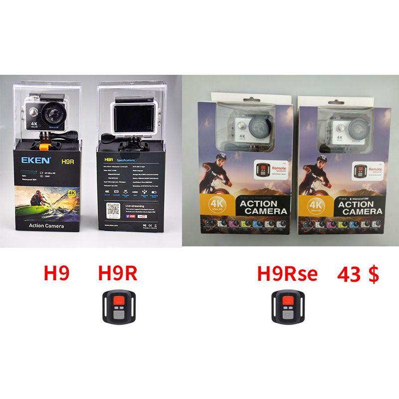 EKEN H9 H9R H9Rse Ultra FHD 4K 25FPS Wifi Action Camera 30M waterproof mini 1080p 60fps underwater go Remote pro sport cam