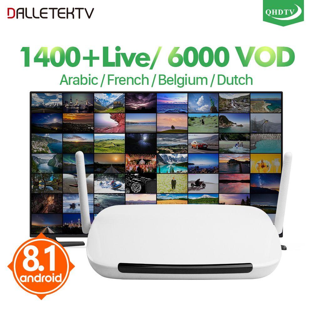 IPTV France Q9 Android 8.1 TV Box TV Receiver IPTV Box 1 Year QHDTV Subscription Code Arabic French Belgium Netherlands IP TV