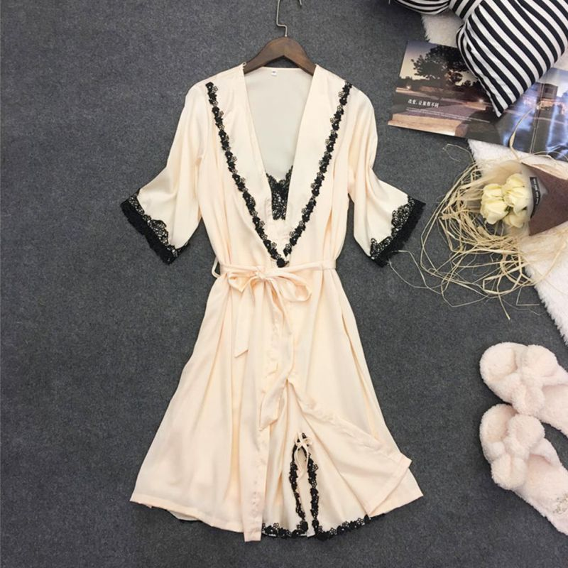 Fashion Women Nightwear Sexy Sleepwear Lingerie Sleepdress Nightgowns Lace Sleeping Dress Homewear