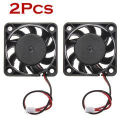 Mokingtop 2018 2pcs Computer Fan Cooler 12V Mini CPU Cooling Computer Fan 40mm x 10mm DC Brushless 2-pin Black Cool Fan