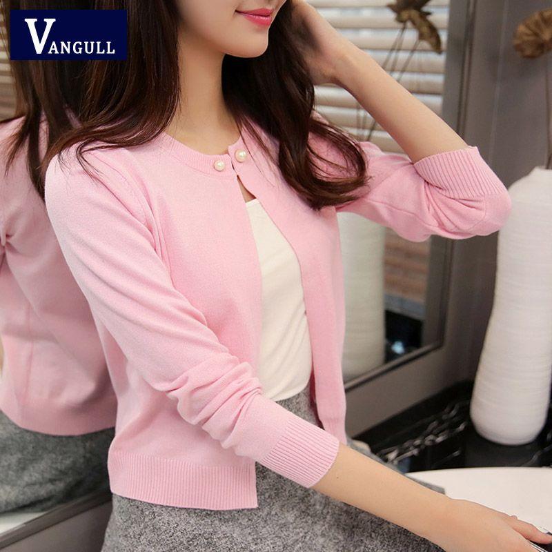 Vangull haute qualité printemps automne chandail 2019 nouvelles femmes cardigan chandail couleur unie un bouton femmes pull en cachemire