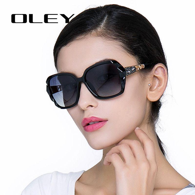 OLEY surdimensionné lunettes De soleil femmes marque De luxe Design élégant lunettes polarisées femme prismatique lunettes Oculos De Sol mulher