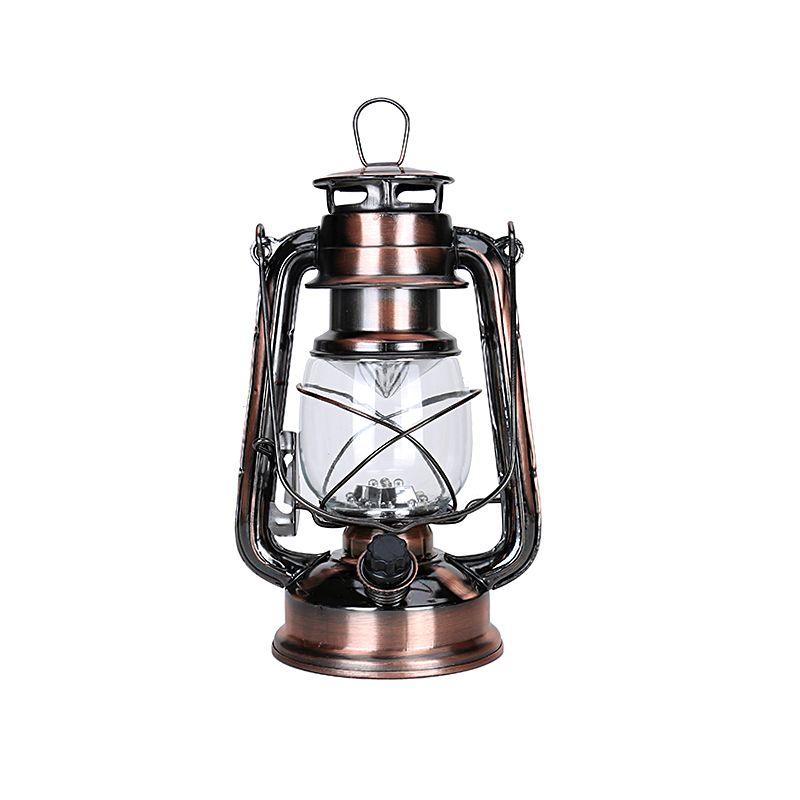 1 pièces LED lampe à huile fer chandelier 2019 bougie kérosène lampes Portable alcool lampe éclairage nouveauté cadeau noël décoration