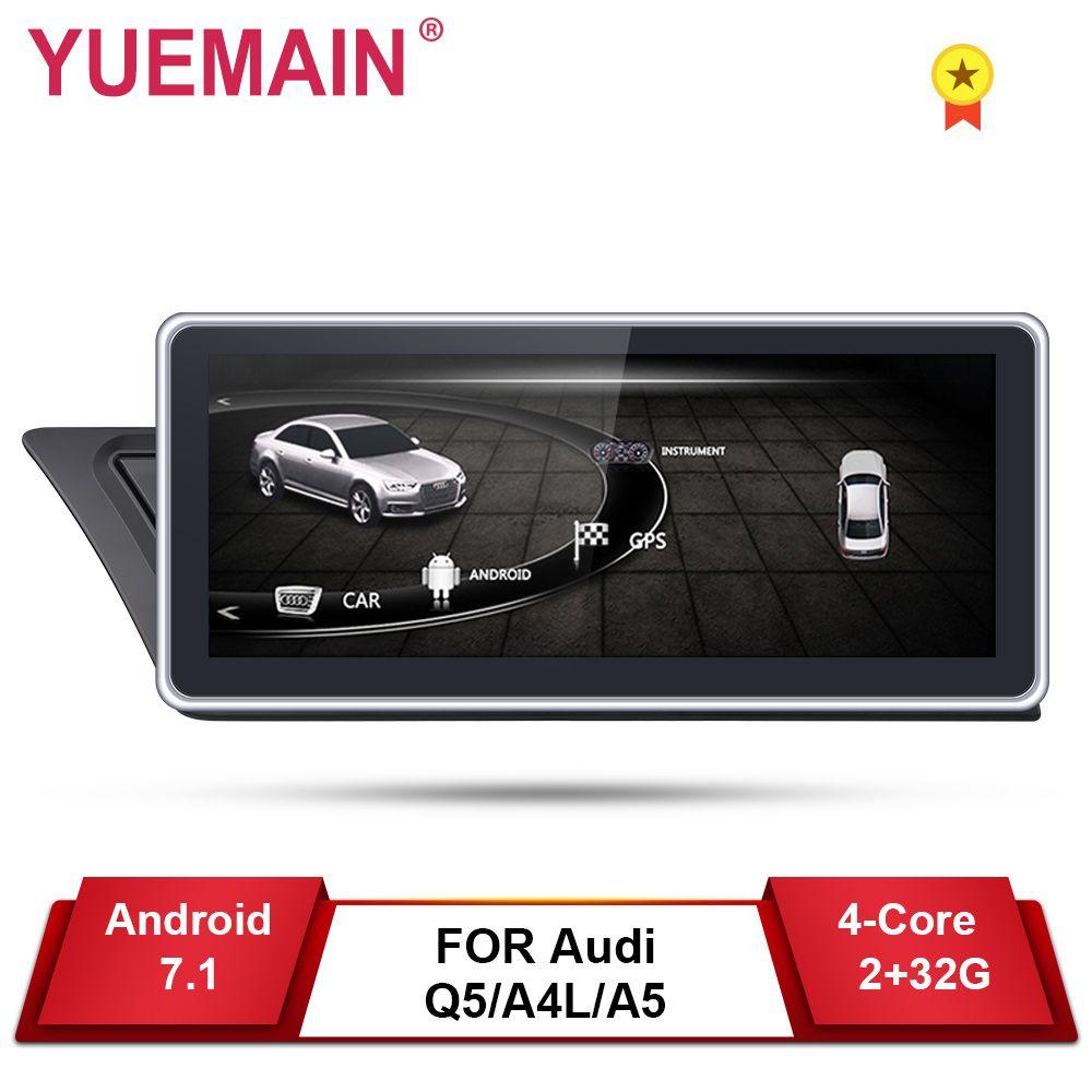 Auto DVD GPS-Player für Audi A4L B8 A5 2009-2017 Android 7.1 Auto Radio Multimedia navigation 2 GB + 32 GB IPS Bildschirm Hinten kamera