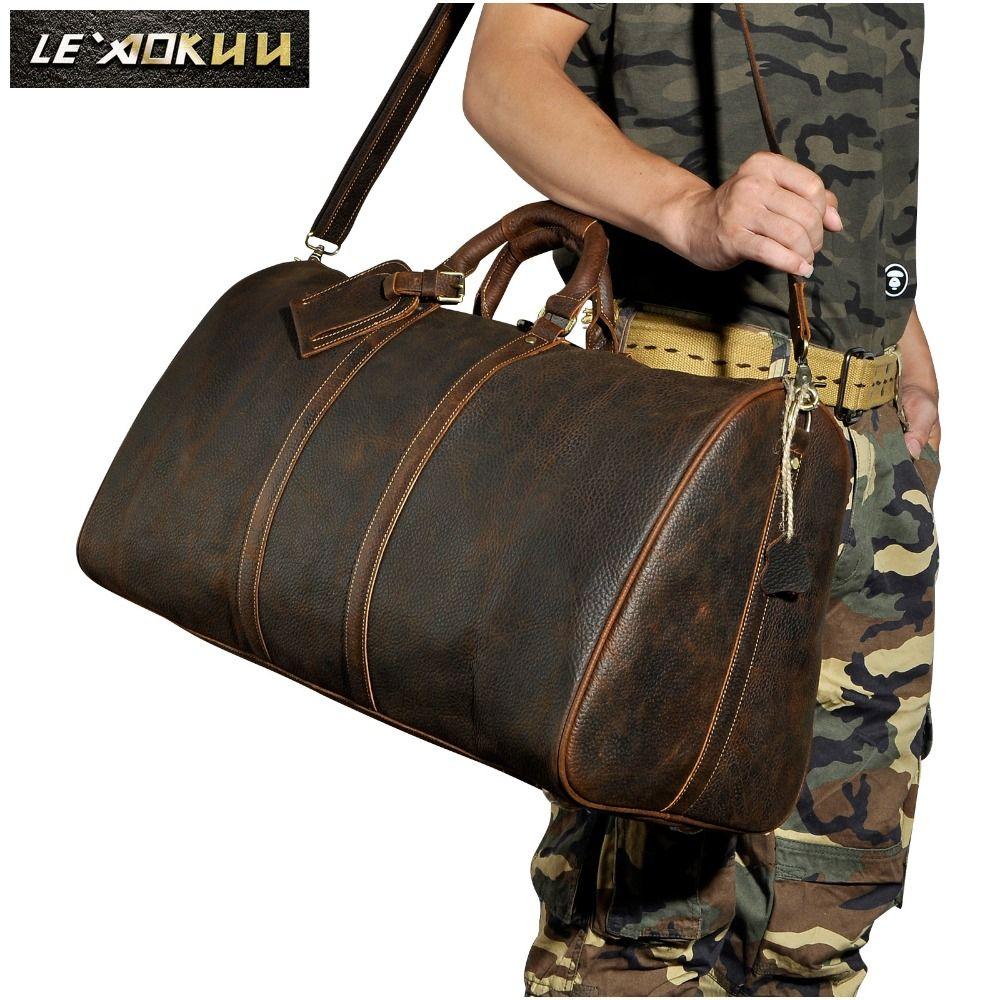 Männer Original-leder Große Kapazität Designer Reisetasche Reisetasche Gepäcktasche Mode Männlichen Koffer Messenger Schulter Tasche 3264