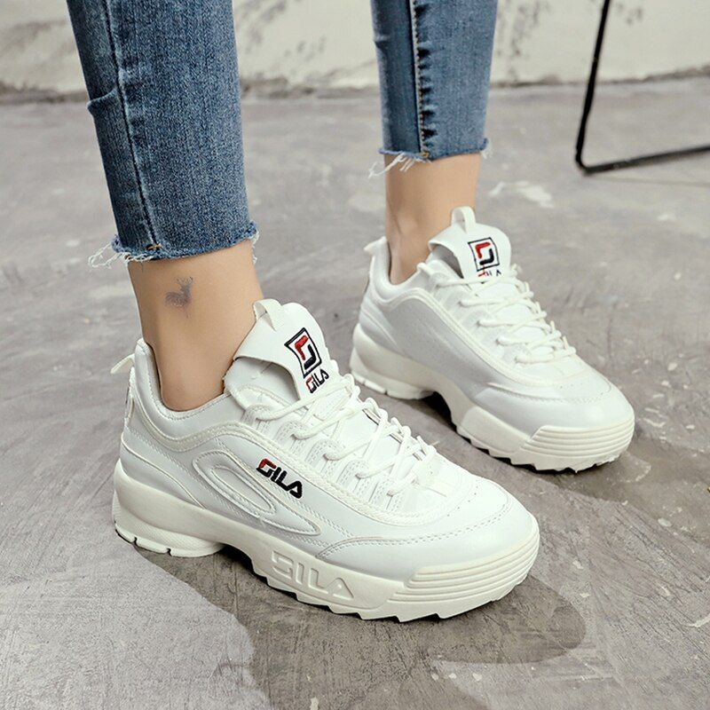Femmes Occasionnels Chaussures Femme 2018 Printemps Automne Chaussures Femmes Sneakers Appartements De Mode Dentelle-Up Blanc Respirant Femme Sneakers ST314