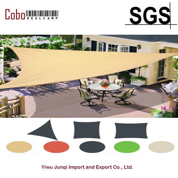 Multi Sizes Sun Shade Sail Fabric Outdoor Garden Canopy Patio Pool Awning Cover  Sunscreen 98% UV Block 3 Shape New