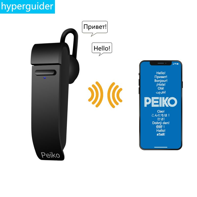 For Dropshipping Wholesale Peiko Translate Earphone Wireless Business Earbuds 25 Languages Bluetooth Headset support customized