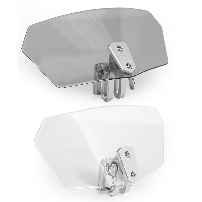 Adjustable Windshield Spoiler Deflector Moto DIY Remodel Accessories Windscreen Extension Universal Heightening Moto Windshield
