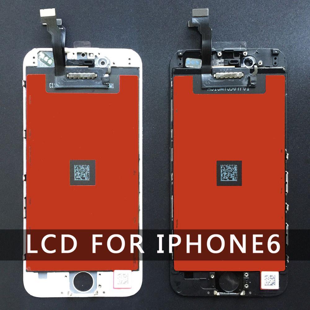 Remplacement pour Iphone 6 LCD écran partie avec tactile numériseur assemblée noir et blanc 4.7 pouces 100% bon Quliay
