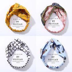 Mode Plaid Noeud Bandeau Turban Élastique Bandeau Head Wrap Cheveux Accessoires pour Femmes Filles Rayé Chapeaux Accessoires