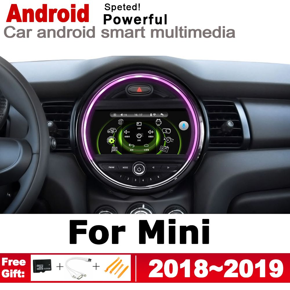 2 Din Auto Multimedia Player Android Auto Radio Für Mini One Cooper S Luke 2018 ~ 2019 DVD GPS Auto radio Stereo GPS Navigation