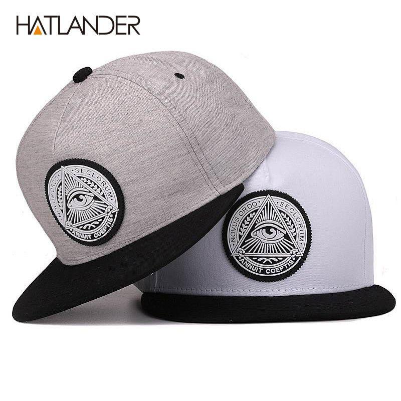 Classique 5 panneaux coton snapback 3d dieu yeux patch en plastique hommes à bord plat casquette de baseball hip hop chapeau et casquette pour hommes et femmes