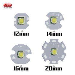 1 шт. CREE XML XM-L T6 светодиодный U2 10 Вт белый высокая Мощность светодиодный излучатель с 12 мм 14 мм 16 мм 20 мм PCB для DIY