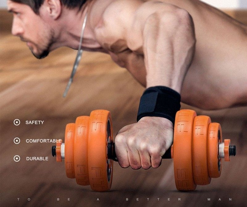 Dumbbell combination set men's fitness home plating adjustable barbell training arm muscle chest muscle slimming equipment
