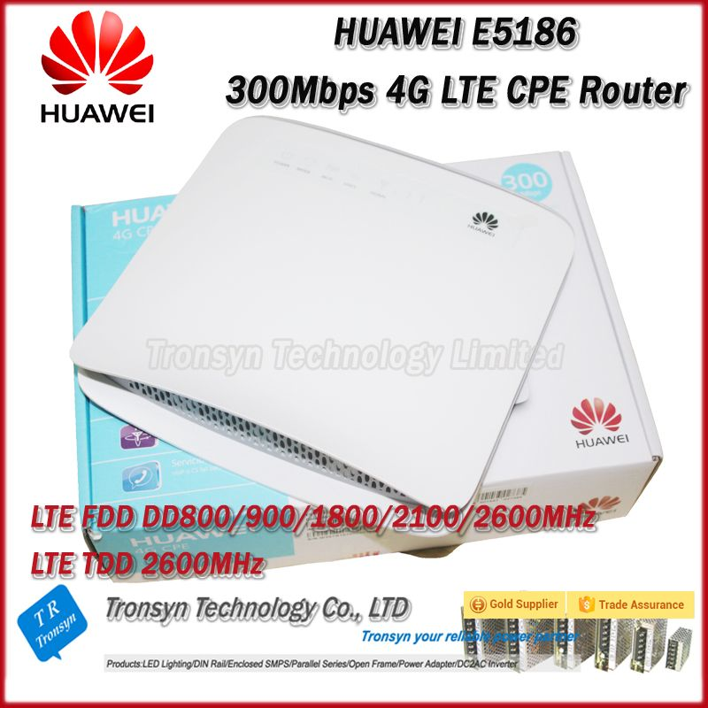 New Arrival Original Unlock 300Mbps HUAWEI E5186S-22A 4G LTE WiFi CPE Router With Sim Card Slot And RJ11,USB ,LAN Port