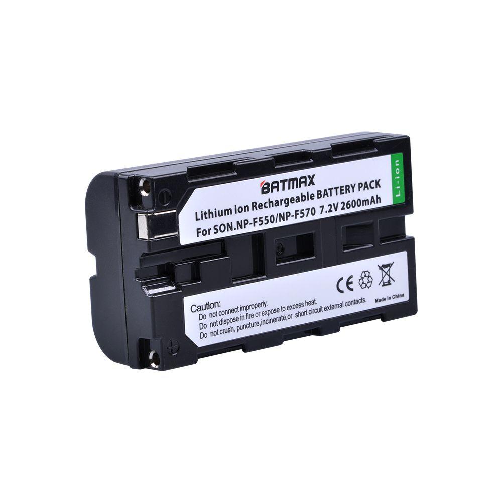 1 pcs NP-F550 NP F550 NPF550 Rechargeable Li-ion batterie (2600 mAh) pour Sony NP-F330 NP-F530 NP-F570 NP-F730 NP-F750 Hi-8