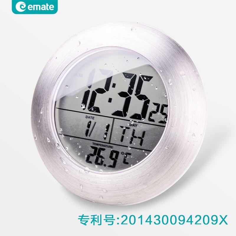 Мода водонепроницаемый электронные из светодиодов цифровые часы супер индукции термометр настенные часы современный дизайн настенные час...