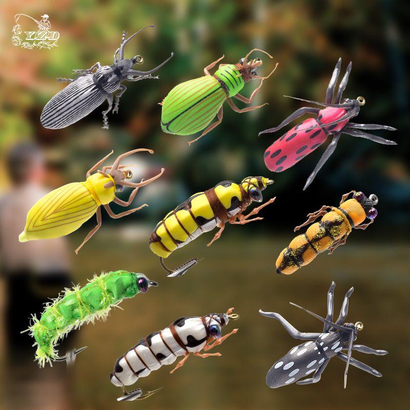 Sec Fly mouches pour la pêche Ensemble Scarabée Insectes Leurre Fly Kitfor Arc-En-Truite Mouches Basse 2 #6 #8 Modèles Assortiment pêche à la mouche