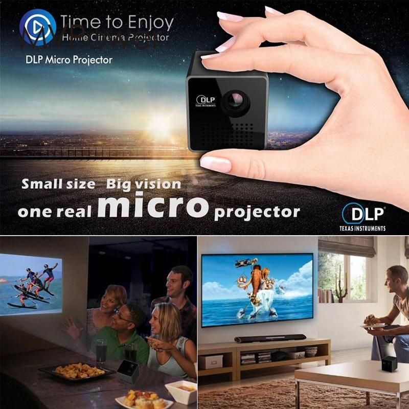 30 Lumens Mini LED Projector DLP P1 Home Movie Theater 1080P mobile phone with the screen function