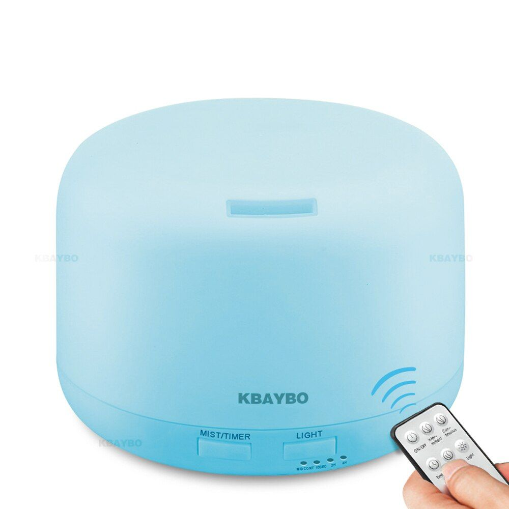 KBAYBO Remote Control 300ML Ultrasonic Air Aroma <font><b>Humidifier</b></font> With Color Lights Electric Aromatherapy Essential Oil Diffuser Home