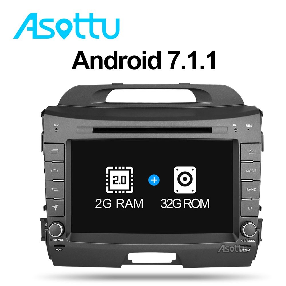 Asottu ZZP8060 2G+32G Android 7.1 car dvd player for KIA Sportage 2011 2012 2013 2014 2015 car stereo headunit gps navigation