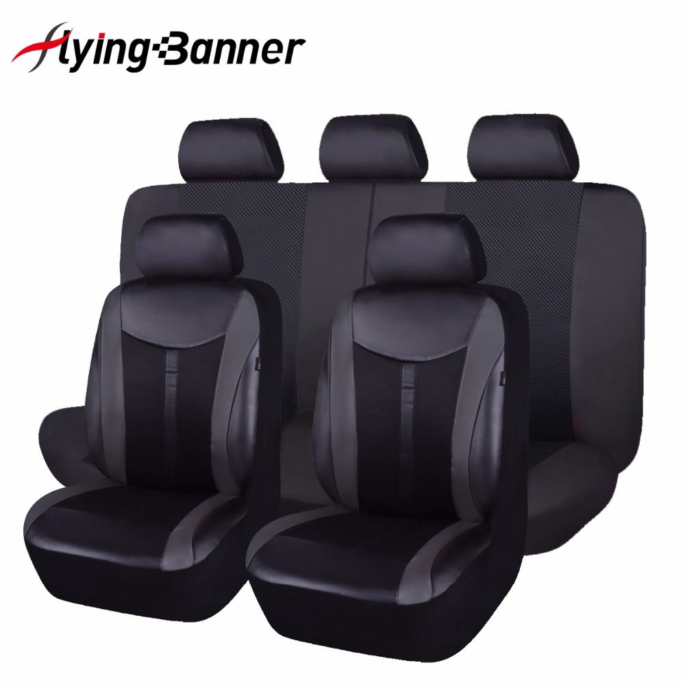 Pu Leather Automobiles Seat Cover Fit Most Vehicles Seats Interior Accessories 8 Color Car Seat Protector 6 Or 11PCS Seat Cover