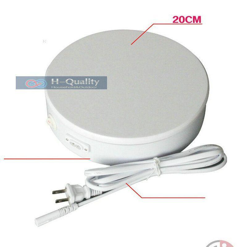 200X60 MM En Ambos Sentidos 360 Soporte de Exhibición de la Placa Giratoria Eléctrica Para Joyería de Cuatro Velocidades Y Dos Opciones de Color Con FUSIBLE de Protección