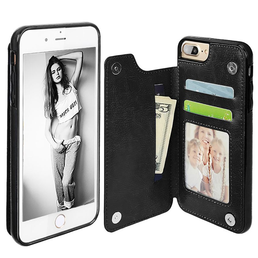 LANCASE Luxury Cover For iPhone 6 Case Wallet Cards Slots Leather Housing hoesjes For iPhone 6s 6 7 8 Plus X Case Flip TPU Funda