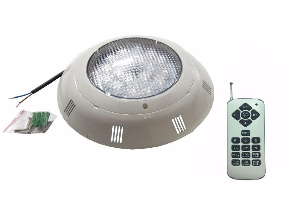 Wandhalterung RGBW Pool LED 24 Watt 36 Watt Unterwasser Licht IP 68 wasserdicht Brunnen Beleuchtung AC12V mit 18 tasten Fernbedienung 48 Watt 60 Watt 72 Watt