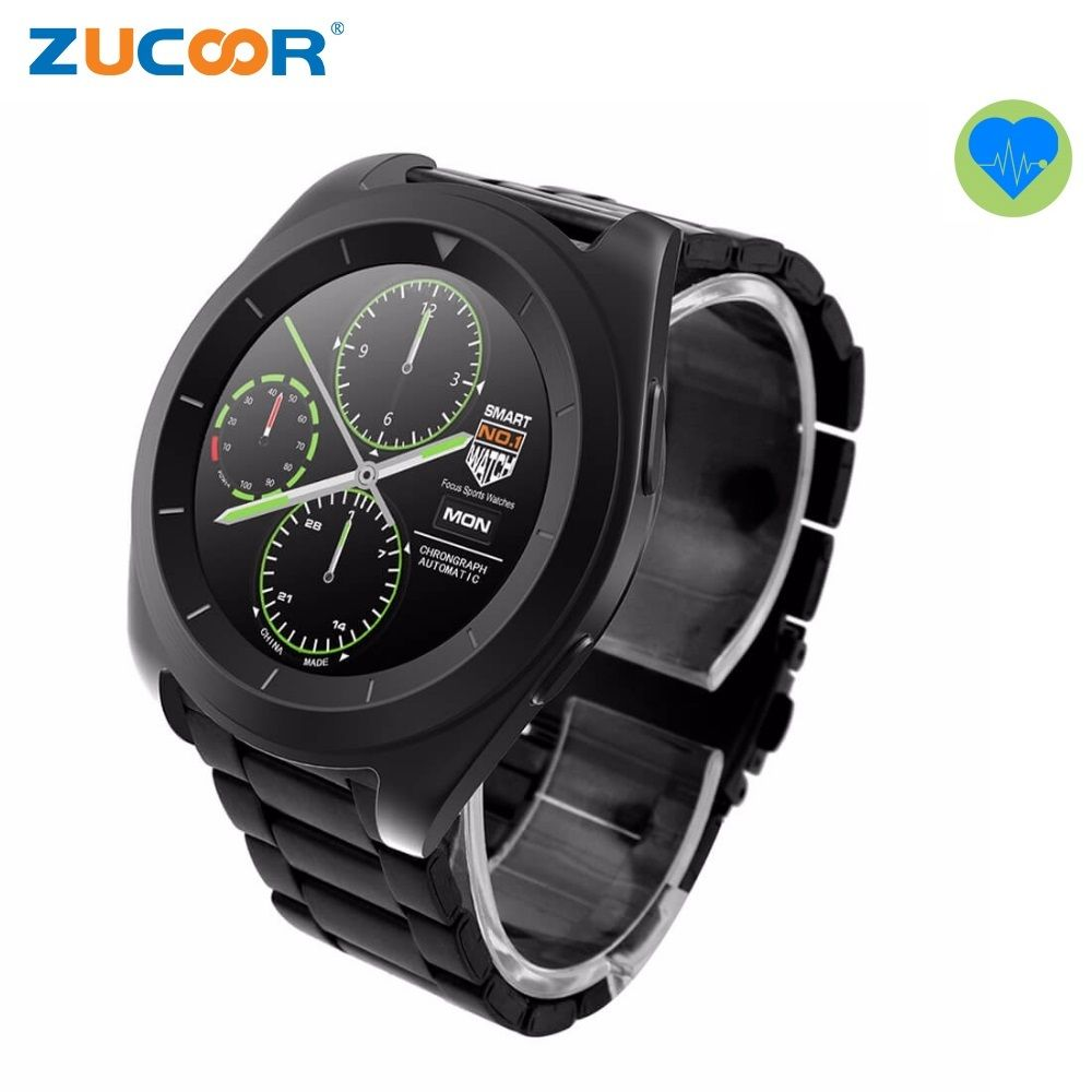 Men's Smart Watch Luxury Smartwatch WristWatch ZW35 Heart Rate Monitor Fitness Tracker Pedometer Bluetooth For iOS Android Men