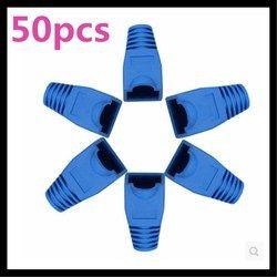 50pcs/lot Blue RJ45 Cat5e Cat6 Network Cable end Protectors Ethernet Patch Connector Boots