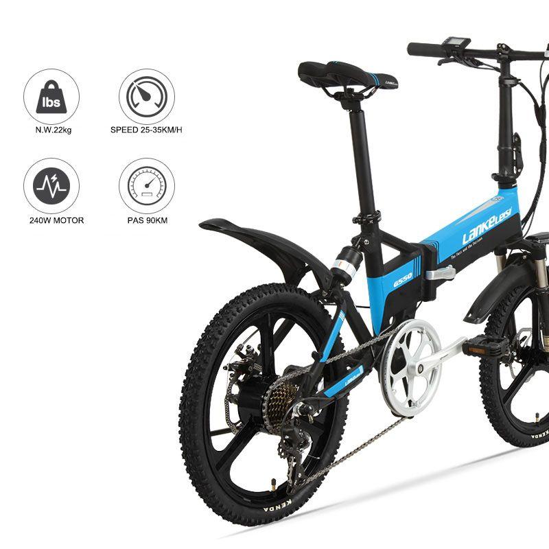 20 inch elektro mountainbike rabatt-fach-rahmen 48V240W motor Leichte aluminiumlegierung elektrische fahrrad front rear Suspension ebi